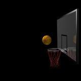 Baloncesto y tablero trasero Imágenes de archivo libres de regalías