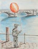 1 balonem Obraz Stock
