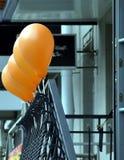 Balones de aire anaranjados Fotos de archivo