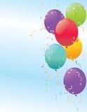 Balones de aire coloreados stock de ilustración