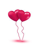 Balones de aire coloridos rosados Fotos de archivo
