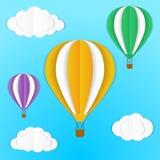 Balones de aire de la papiroflexia stock de ilustración