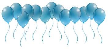 Balones de aire festivos, tarjetas de felicitación Fotografía de archivo libre de regalías