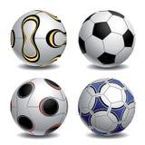 balones de fútbol 3d Imagen de archivo libre de regalías