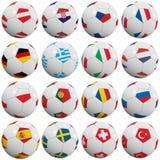 Balones de fútbol europeos ilustración del vector