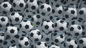 Balones de fútbol que caen libre illustration