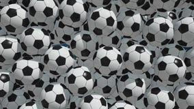 Balones de fútbol que caen ilustración del vector