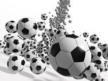 Balones de fútbol Imagenes de archivo