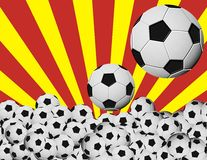 Balones DE soccer Engelse españa Royalty-vrije Stock Foto