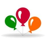 baloney Глянцеватый воздушный шар иллюстрация вектора