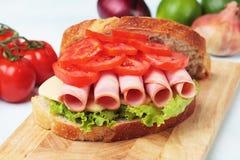 Baloney kanapka zdjęcie stock