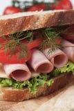 Baloney kanapka obraz stock