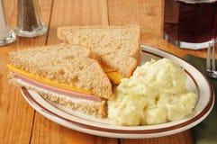 Baloney Sandwich Stock Photography