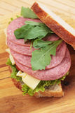 Baloney sandwich Stock Image