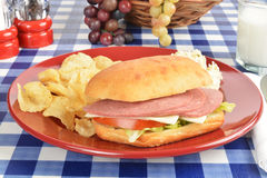 Baloney sandwich Royalty Free Stock Images