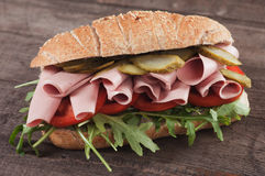Baloney submarine sandwich Stock Photos
