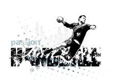 Balonmano 1 stock de ilustración