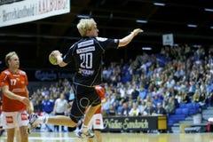 Balonmano de Aalborg - balonmano de Nordsjælland Imagen de archivo