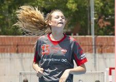 Balonmano 2013 de GCUP. Granollers. Fotos de archivo