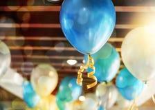 Balonowa dekoracja na suficie Zdjęcia Stock