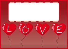 balonowa kierowa miłość royalty ilustracja