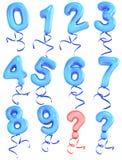 balonowa liczba Obrazy Stock