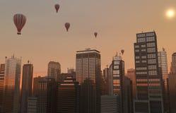 Balonowa linia horyzontu Obrazy Royalty Free