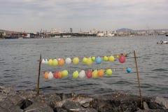 Balonowa mknąca gra z balonami wiązał na sznurku Obrazy Stock
