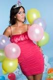 balonowa partyjna kobieta Fotografia Royalty Free