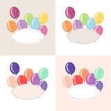 Balonowa pocztówka Zdjęcia Stock