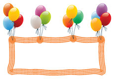 balonowa rama Obrazy Stock