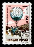 Balonowa Rywalizacja, 1904, 200 rok Załogowy lota seria, cir Zdjęcia Royalty Free