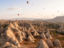 Balonowa wycieczka turysyczna w Goreme Obraz Stock