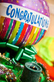 balonowe gratulacje Fotografia Stock