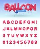 Balonowego abecadła ikony Realistyczny set ilustracja wektor