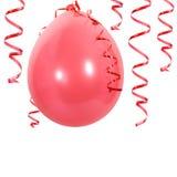balonowi czerwoni streamers Obraz Stock