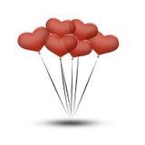 balonowi dzień serc valentines Obraz Stock