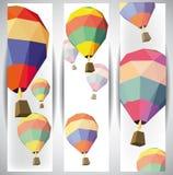 Balonowi gorące powietrze sztandary Obraz Stock