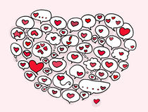 balonowi serca Obraz Stock