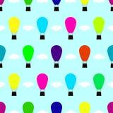 Balonowy bezszwowy deseniowy tło Obraz Royalty Free