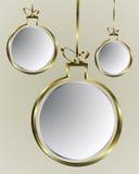 Balonowy Bożenarodzeniowy złoto Zdjęcia Royalty Free