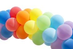 balonowy kolorowy odosobniony biel Obraz Royalty Free