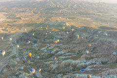 Balonowy latanie nad Cappadocia Fotografia Stock