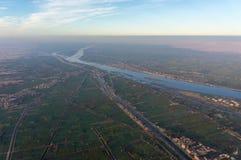 Balonowy lot w Luxor, pięknym zdjęcia royalty free