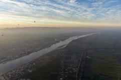 Balonowy lot w Luxor, pięknym obrazy royalty free