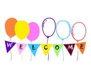 Balonowy powitanie Zdjęcia Royalty Free