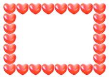 balonowy ramowy serce odizolowywający kształt Obraz Stock
