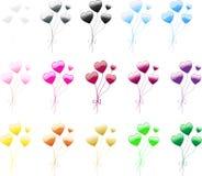 balonowy serce Zdjęcia Stock