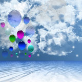 Balonowy tło. Zdjęcie Royalty Free