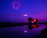 Balonowy zmierzch. Zdjęcie Royalty Free